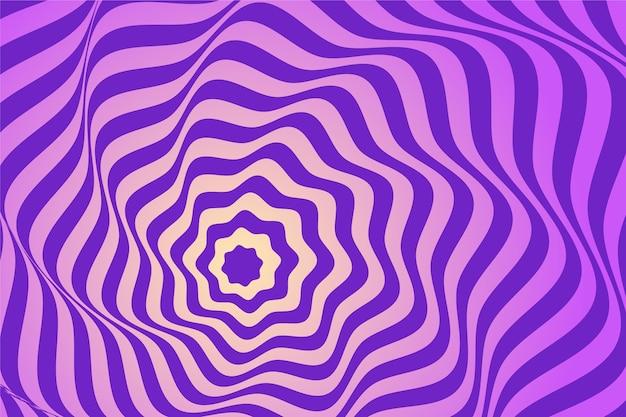 Conceito de papel de parede de ilusão de ótica psicodélica