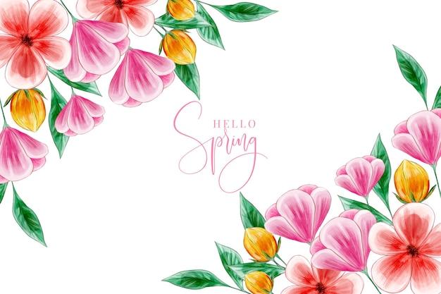 Conceito de papel de parede de primavera em aquarela
