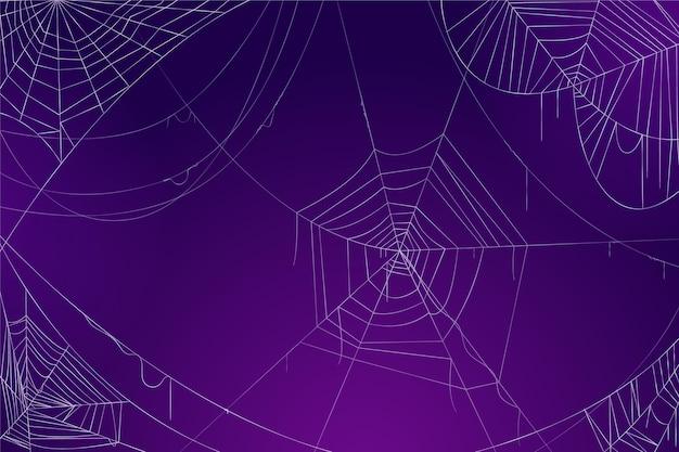 Conceito de papel de parede de teia de aranha de halloween