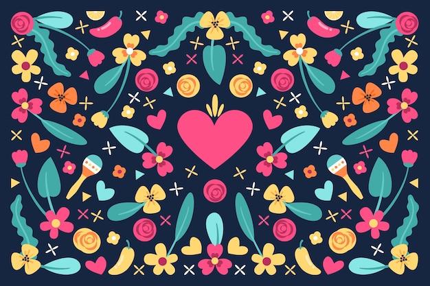 Conceito de papel de parede mexicano colorido