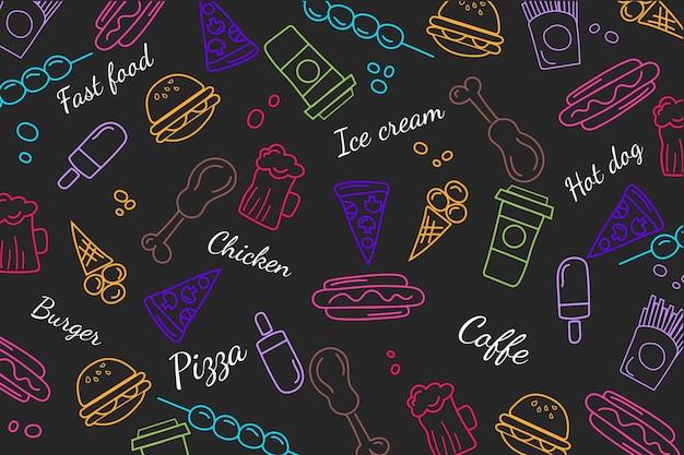 Conceito de papel de parede mural de restaurante