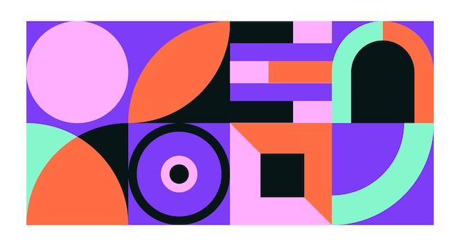 Conceito de papel de parede mural geométrico