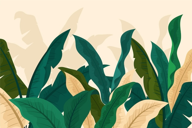 Conceito de papel de parede mural tropical