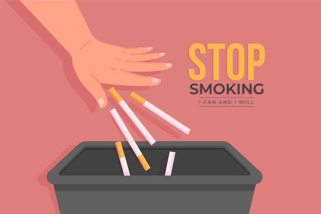 Conceito de parar de fumar com cigarros
