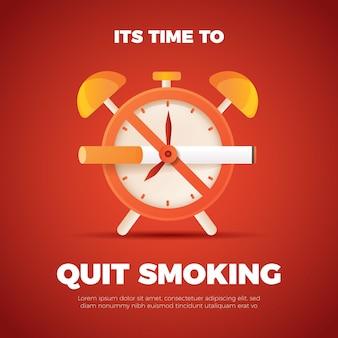 Conceito de parar de fumar