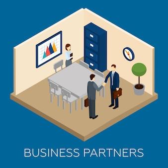 Conceito de parceria isométrica