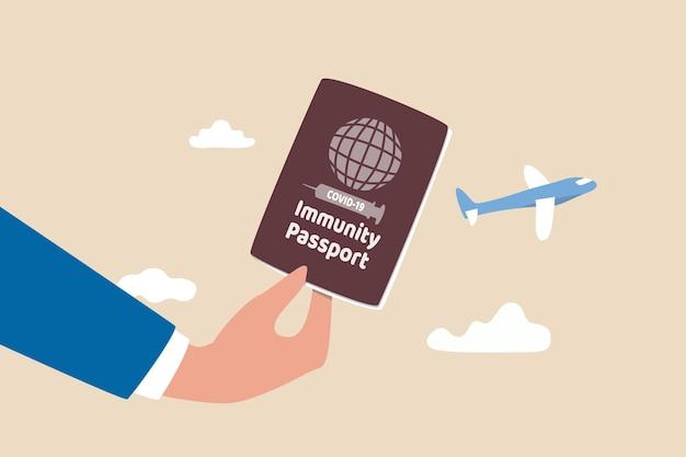 Conceito de passaporte de imunidade.