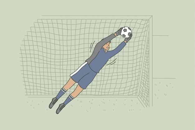 Conceito de passatempo de futebol de competição de jogo de esporte