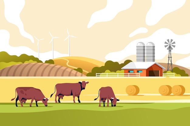 Conceito de pecuária e agricultura da indústria agrícola