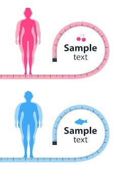 Conceito de perda de peso a influência da dieta no peso da pessoa