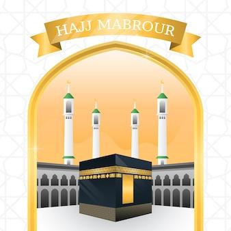 Conceito de peregrinação islâmica realista do hajj