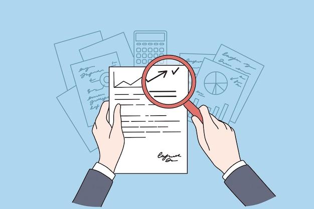 Conceito de pesquisa de documento de negócios de investigação