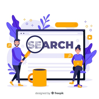 Conceito de pesquisa para a página de destino
