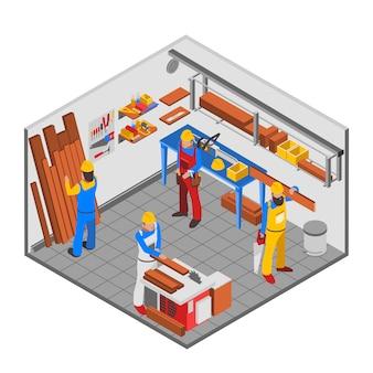 Conceito de pessoas de carpintaria