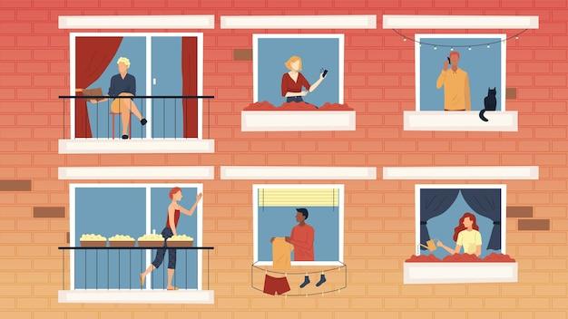 Conceito de pessoas de lazer em casa