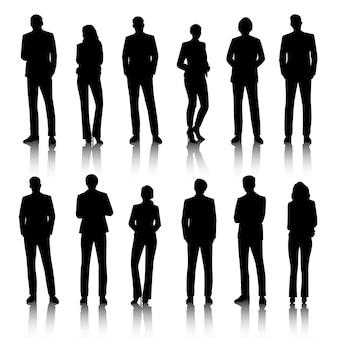Conceito de pessoas de negócios de ilustração de interface do usuário