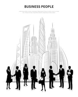 Conceito de pessoas de negócios
