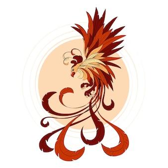 Conceito de phoenix mão desenhada Vetor grátis
