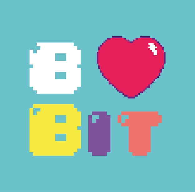 Conceito de pixelated retro videojogo de 8 bits