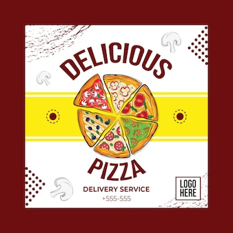 Conceito de pizza deliciosa