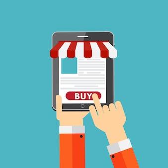 Conceito de plano de compras online para aplicativos móveis. eps10