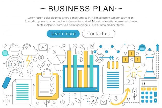 Conceito de plano de finanças de negócios