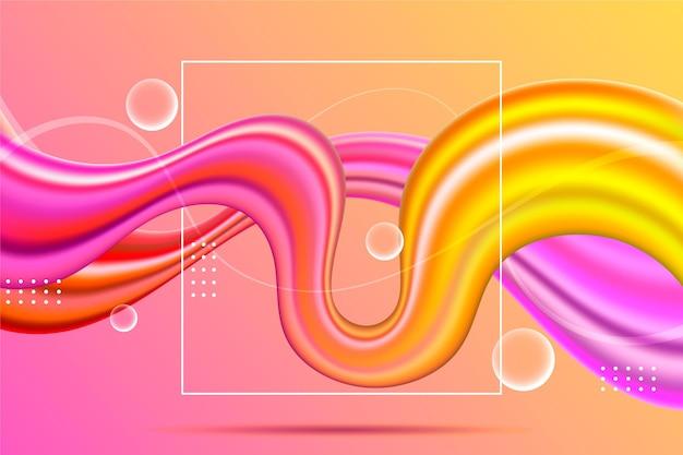 Conceito de plano de fundo de fluxo de cores