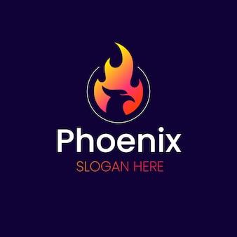 Conceito de plano de fundo do logotipo phoenix