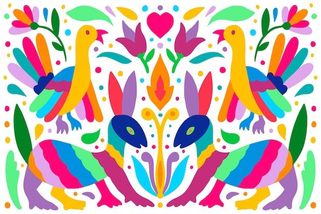 Conceito de plano de fundo mexicano colorido liso