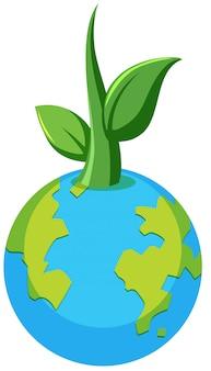 Conceito de planta do planeta terra