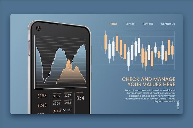 Conceito de plataforma de bolsa de valores