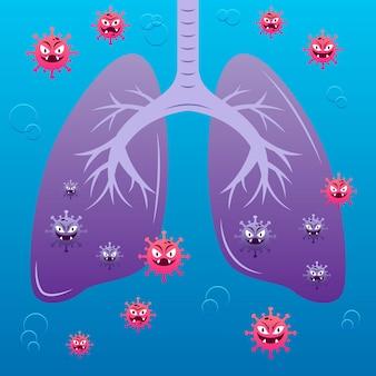 Conceito de pneumonia por coronavírus