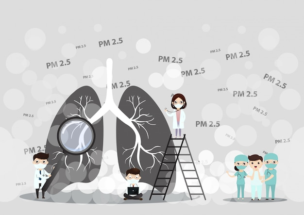 Conceito de poluição do ar pm2.5.