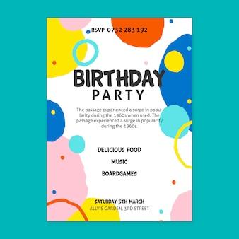 Conceito de pôster de aniversário