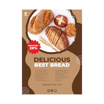Conceito de pôster de pão delicioso