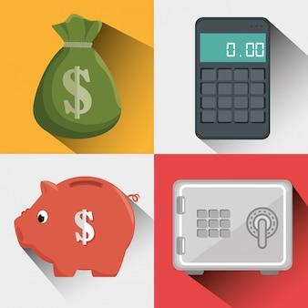 Conceito de poupança e dinheiro