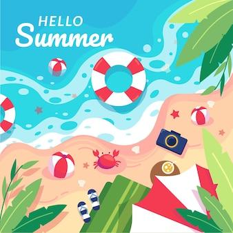Conceito de praia para horário de verão
