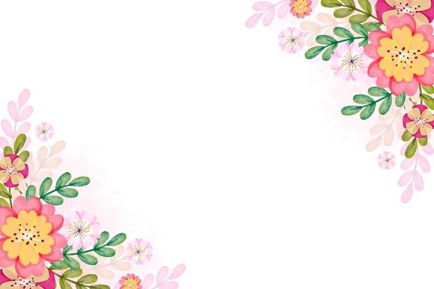Conceito de primavera aquarela para plano de fundo