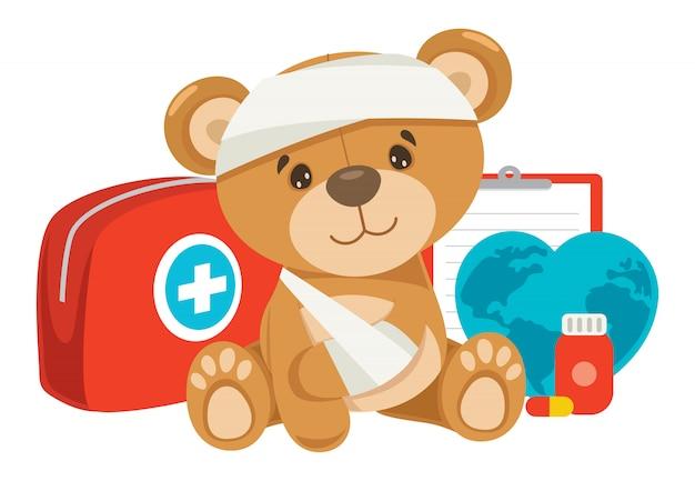 Conceito de primeiros socorros de rcp para crianças