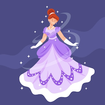 Conceito de princesa cinderela