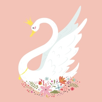 Conceito de princesa cisne