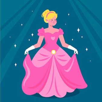 Conceito de princesa linda cinderela