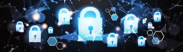 Conceito de privacidade de proteção de dados de cadeado