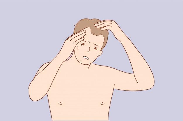 Conceito de problema de exame de frustração de cuidados de saúde