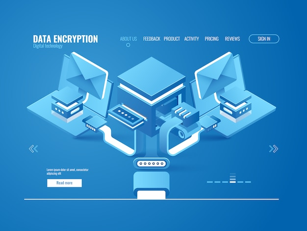 Conceito de processo de criptografia de dados, data factory, envio automático de email e mensagens