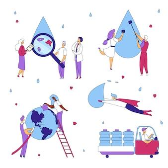 Conceito de produção de água limpa