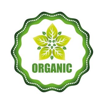 Conceito de produto orgânico com design de ícone