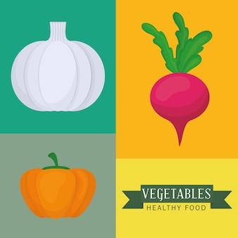 Conceito de produto orgânico com projeto do ícone dos vegetais, gráfico do eps da ilustração 10 do vetor.