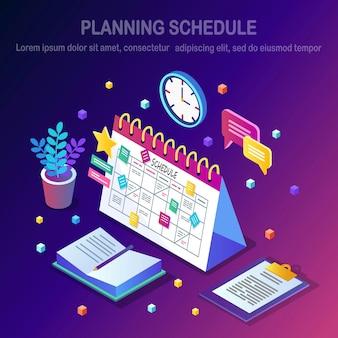 Conceito de programação de planejamento.