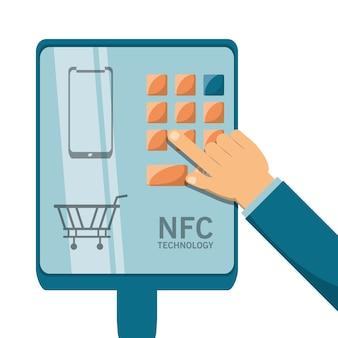 Conceito de projeto de pagamento nfc